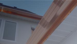 Copper Seamless Rain Gutter